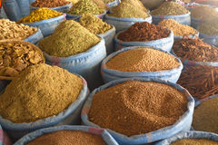 Рынок специи в Марокко Стоковые Фотографии RF