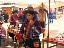 Рынок сувенира в Raqchi, Перу, Южной Америке Стоковые Фото