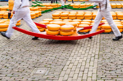 Рынок сыра в Алкмаре, Нидерландах стоковое изображение rf
