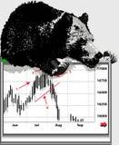рынок с понижательной тенденцией Стоковое Фото