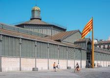 Рынок с понижательной тенденцией El или Mercat del Рожденн barcelona Испания Стоковые Изображения RF