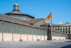 Рынок с понижательной тенденцией El или Mercat del Рожденн barcelona Испания Стоковая Фотография