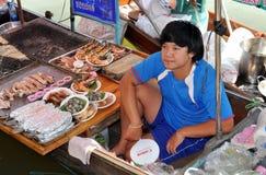 рынок Таиланд amphawa плавая стоковое фото rf