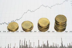 рынок тенденцией к повышению курсов Стоковые Фото