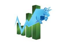 Рынок тенденцией к повышению курсов иллюстрация вектора