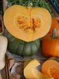 Рынок тыквы половинный Стоковая Фотография