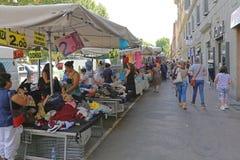 Рынок улицы в Рим Стоковое Изображение