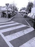 Рынок фермера на улице в городе стоковое изображение rf