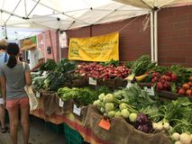 Рынок фермеров улицы, Принстон NJ Стоковое фото RF