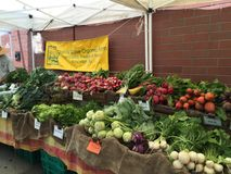 Рынок фермеров улицы, Принстон NJ Стоковое Изображение