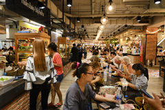Рынок фуд-корт Стоковое Фото