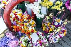 Рынок флориста города Стоковые Фотографии RF