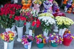 Рынок флориста города Стоковые Изображения RF
