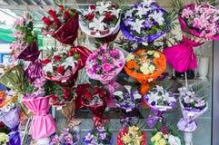 Рынок флориста города Стоковая Фотография