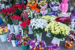Рынок флориста города Стоковое Фото