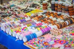Рынок хиппи Punta Arabi известное место на острове где художники продают handmade ремесла и сувениры стоковое изображение