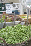 рынок хуторянин фасолей зеленый Стоковые Изображения RF