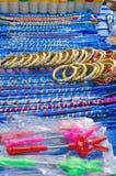 Рынок цветастой очень вкусной улицы конфет справедливый Стоковое Изображение RF