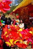 Рынок 2016 цветка жасмина зимы Гуанчжоу Стоковое Изображение
