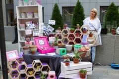 Рынок цветка Киева - первый цветок города справедливый в Киеве, Украине 18-ое сентября 2016 Стоковое Изображение RF