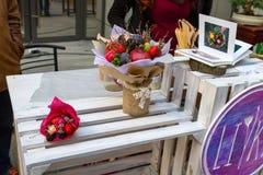 Рынок цветка Киева - первый цветок города справедливый в Киеве, Украине 18-ое сентября 2016 Стоковые Изображения