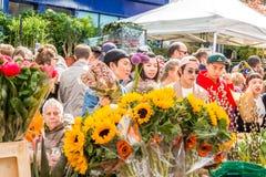 Рынок цветка дороги Колумбии стоковая фотография