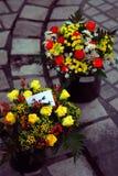 рынок цветков стоковая фотография