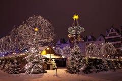 рынок часа рождества известный немецкий Стоковое Фото