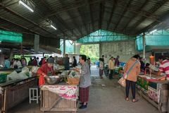 Рынок ЧИАНГМАЯ в утре стоковая фотография rf