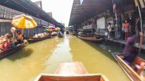 Рынок шлюпки Таиланда промежутка времени езды шлюпки видеоматериал