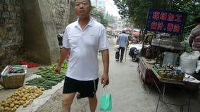 Рынок ярмарок городка Китая, продавая сезам-масло акции видеоматериалы