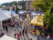 Рынок для задействуя enthousiasts на L'Eroica, Италии Стоковые Фото