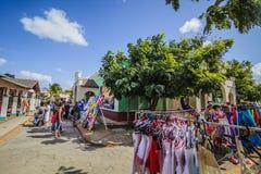 Рынок для туристов вызвал Пуэбло в Кубе стоковое изображение rf