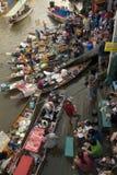 рынок amphawa плавая Стоковая Фотография