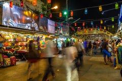 Рынок Anusarn и ночная жизнь долгой выдержки Стоковые Изображения