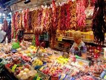Рынок boqueria Ла - Барселона Стоковые Изображения