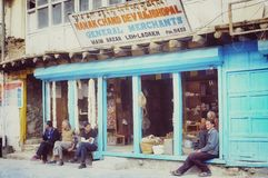 рынок dalakh leh Стоковое Фото