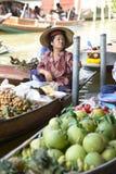 Рынок Damnoen Saduak плавая Стоковое Фото
