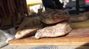 Рынок Dolceaqua - Piedmontese шпик с травами Стоковое фото RF
