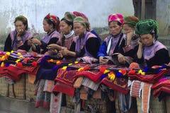 рынок hmong цветка Стоковая Фотография