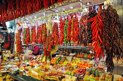 рынок la boqueria Стоковые Изображения