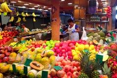 рынок la boqueria barcelona Стоковые Изображения RF