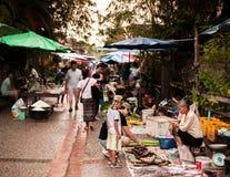 Рынок Luang Prabang утра, Лаос Стоковые Изображения RF