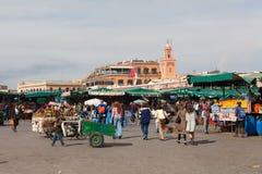 Рынок Marrakesh в утре Стоковые Фотографии RF