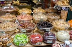 Рынок Modiano в Thessaloniki, Греции Стоковая Фотография