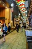 Рынок Nishiki в Киото Стоковое Фото