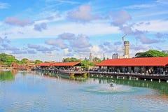 Рынок Pettah плавая, Коломбо, Шри-Ланка Стоковые Изображения