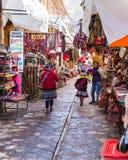 Рынок Pisac в Перу стоковое фото rf