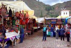 Рынок Pisac индигенный стоковые фото