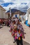 Рынок Pisac, Folkloric перуанский парад, Перу Стоковое Фото